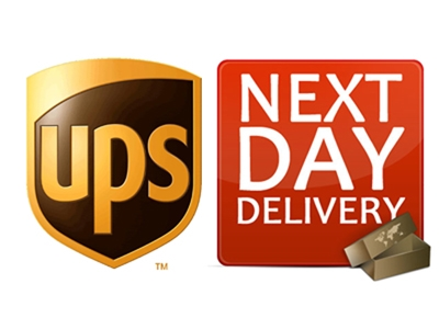 UPS Next Day Air Shipping Service for US Customers Only