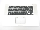 "KB Topcase - Grade A Top Case Palm Rest US Keyboard without Trackpad for Apple Macbook Pro 15"" A1286 2008"
