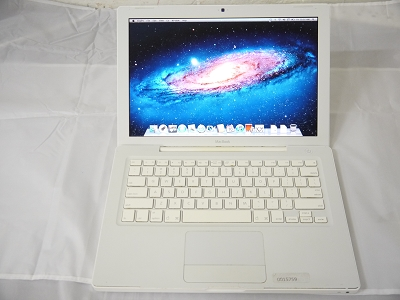 "USED Fair Apple White MacBook 13"" A1181 2008 MB402LL/A* EMC 2242 2.1 GHz Core 2 Duo 2GB Ram 160GB HDD Intel GMA X3100 Laptop"