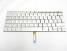 "Keyboard - 90% NEW Silver Swiss French Keyboard Backlit Backlight for Apple Macbook Pro 17"" A1261 2008 US Model Compatible"