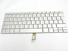 "Keyboard - 90% NEW Silver Turkish Keyboard Backlit Backlight for Apple Macbook Pro 17"" A1261 2008 US Model Compatible"