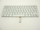 "Keyboard - 90% NEW Silver Great Britain Keyboard Backlit Backlight for Apple Macbook Pro 17"" A1261 2008 US Model Compatible"