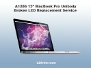 "LCD/GLASS Replacement - A1286 15"" MacBook Pro Broken Glossy LED Replacement Service"