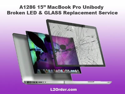 A1286 15 MacBook Pro Broken Glass amp LCD LED Replacement